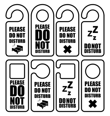 Please do not disturb hotel design icon Ilustração