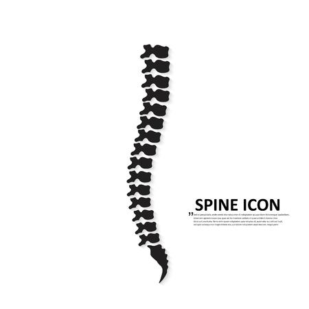 Siluetta dell'icona di vettore della colonna vertebrale umana