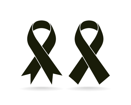Mourning and melanoma support symbol Stock Illustratie