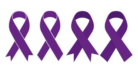 World epilepsy day ribbon on white background. Vector illustration Ilustracja