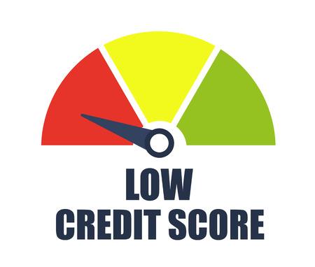Low credit score. Vector illustration. Vetores