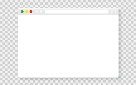 Simple browser window. Browser icon Vectores