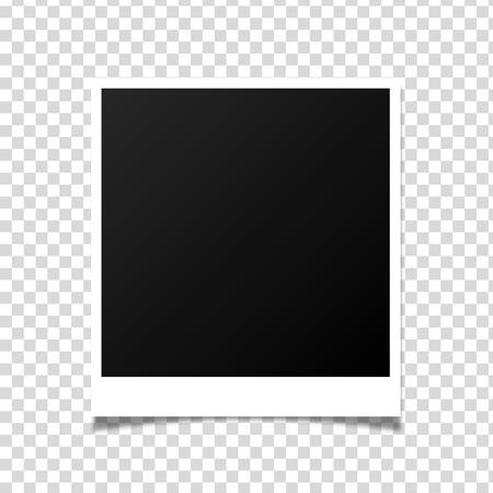 Diseño de maqueta de marco de foto de vector