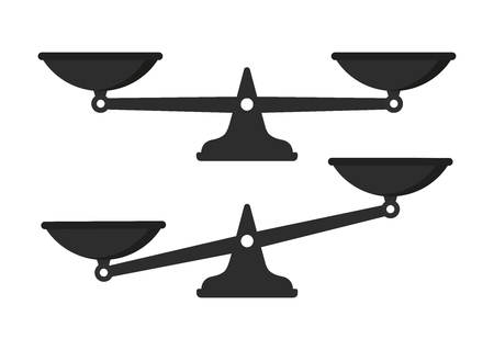 Scales, Flat design, vector illustration. Libra vector