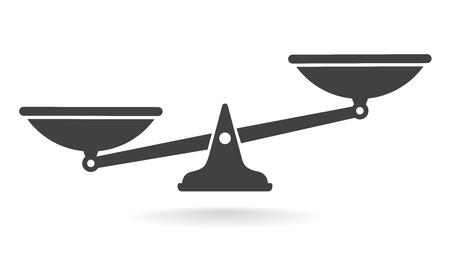 Escalas, diseño plano, ilustración vectorial. Vector de libra