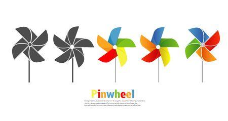 Pinwheel icon vector set illustration