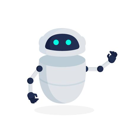 Robot icon. Chat robot icon. Flat vector illustration background.
