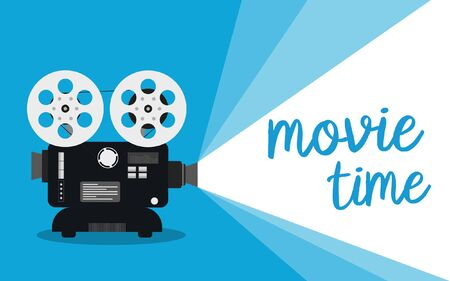 Movie time concept. Cinema banner design Ilustracja