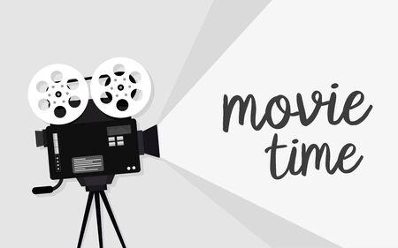 Movie time concept. Cinema banner design  イラスト・ベクター素材