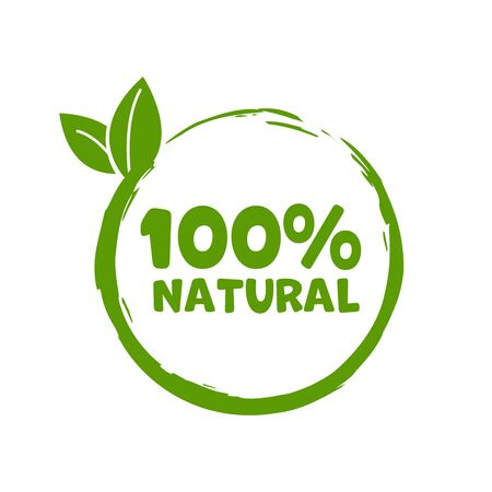 Green stamp with text 100% Natural product. Vector Vektorgrafik