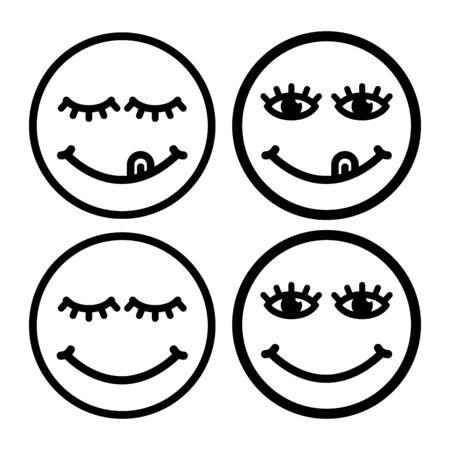 Face smile delicious vector icon