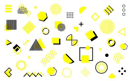 Abstract and trendy modern geometric background. Vector background