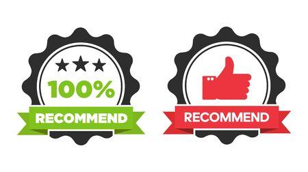 Vector recommended stamp, sticker, seal Reklamní fotografie - 133771690