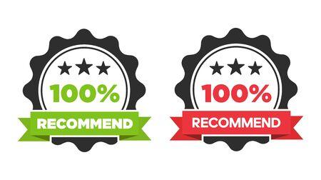Vector recommended stamp, sticker, seal Reklamní fotografie - 133771702