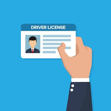 Car driver license identification with photo