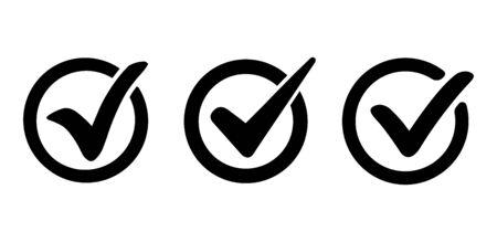 Green check mark design, icon vector Reklamní fotografie - 133771726