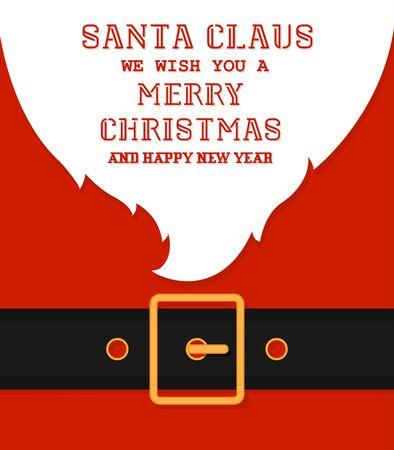 Santa's message banner background. Vector santa beard 写真素材 - 133771736
