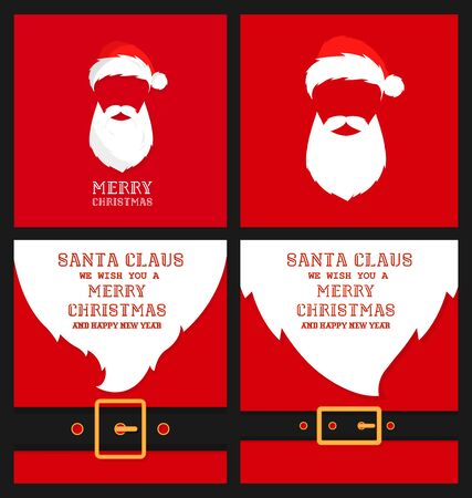 Santa's message banner background. Vector santa beard 写真素材 - 133771738