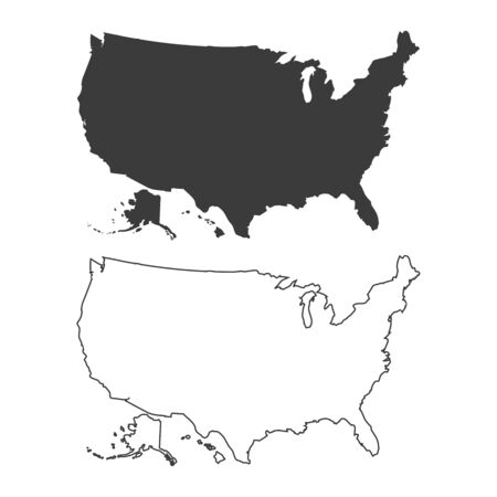 USA map with states. Vector illustration Stock Illustratie