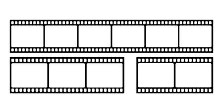 Vector blank cinema film strip. Illustration