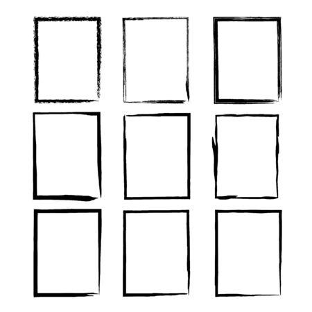 Grunge frame texture set. Vector illustration Banco de Imagens - 133771793