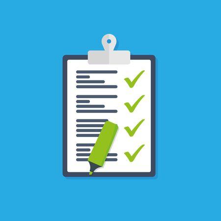 Icon clipboard checklist vector icon Illusztráció