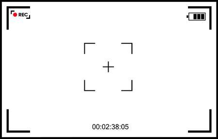 Écran de mise au point de la caméra vidéo en arrière-plan