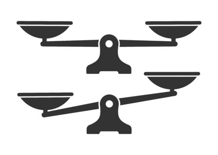 Set of scales or libra icon. Vector illustration 矢量图像