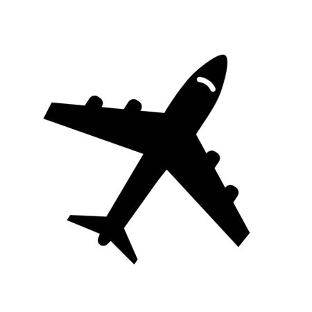Vector icons of airplanes icon