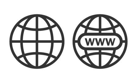 Website Icon. Vector www icon Vektorové ilustrace