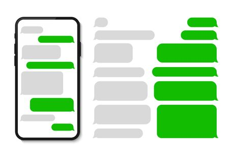 Message phone template chatting sms template bubbles