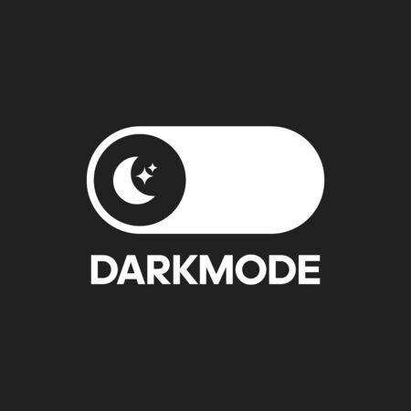 Vector darkmode switch interface design