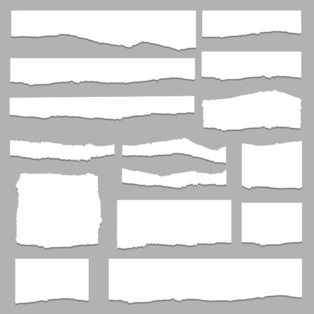 Torn paper set vector, layered. Vector illustration