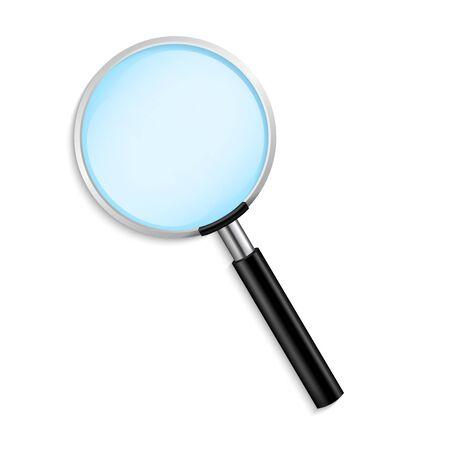 Lente d'ingrandimento realistica vettore isolato illustrazione vettoriale su sfondo trasparente
