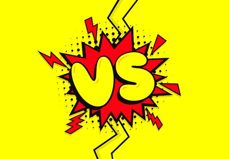 VS. Versus letter logo. Battle vs match, game 矢量图像