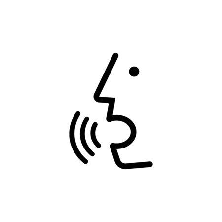 Voice control person talking icon Illustration