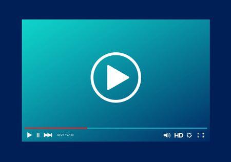 Modello di barra del lettore video per il tuo design per sito web e app