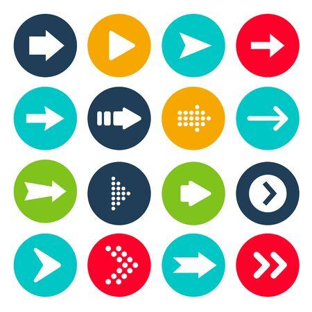 Ilustracja wektorowa zestawu ikon strzałek Ilustracje wektorowe