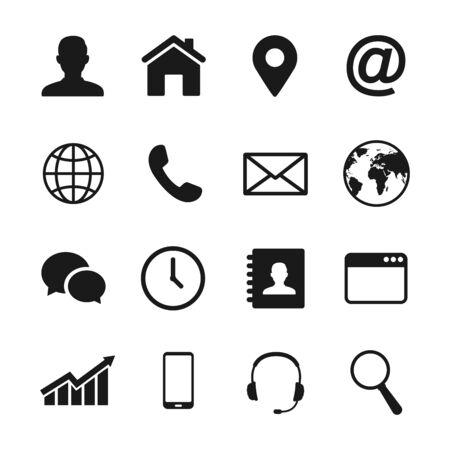Web icon set. Vector illustration.