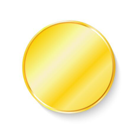 Gold coin icon. Vector illustration 일러스트