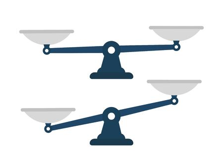 Set of scales. Libra icon. Flat icon. Vector illustration