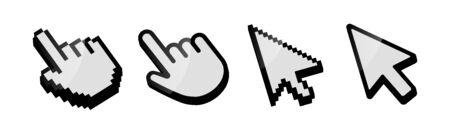 Cursor icon set vector. Mouse arrow pointer. Cursor mouse icon