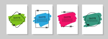 Inspirational quote for your opportunities. Speech bubbles with quote marks. Vector illustration Illustration