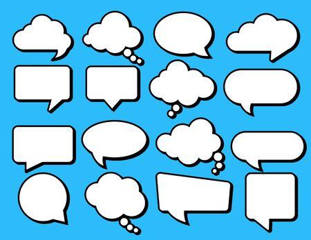 Set of speech bubbles. Vector stickers of speech bubbles icon