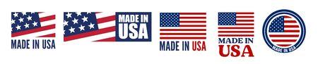 Made in the USA logo or label. Vector illustration Illustration