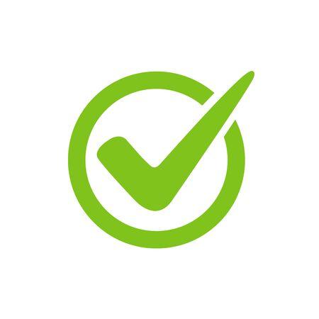 Check mark set vector icon