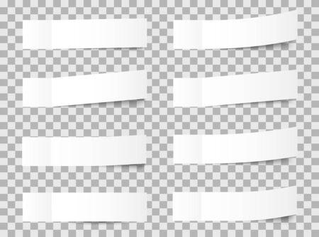 Vector sticky notes, transparent shadows. Vector illustration. Illustration