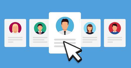Human resources, employee recruitment Illustration
