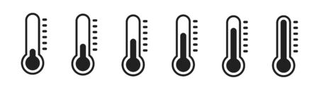Temperature vector icon. Weather, hot and cold illustration.
