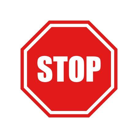 Stop vector sign. Vector illustration